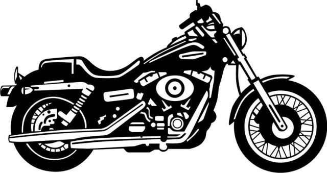 clipart free download Harley davidson clipart. Motorcycle black and white