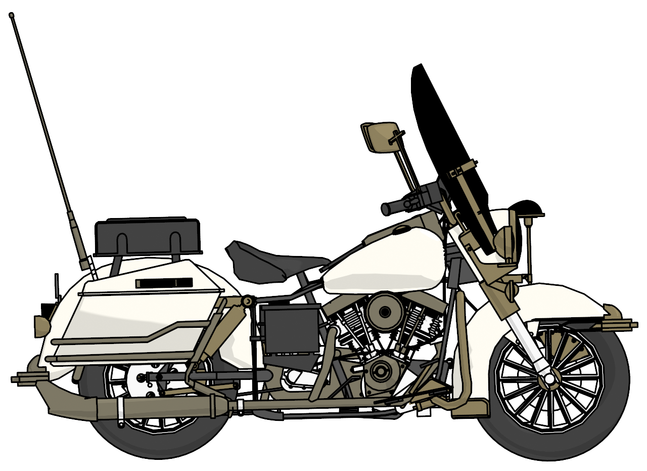 graphic free stock Motorcycle clipart motorcycle harley davidson. Police side png clipartly.