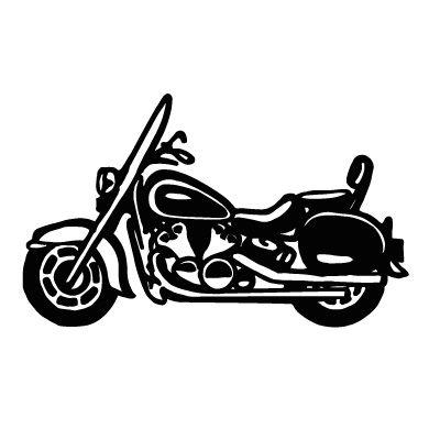 free stock Harley davidson clipart project. Cruiser vinyl designs silhouette.