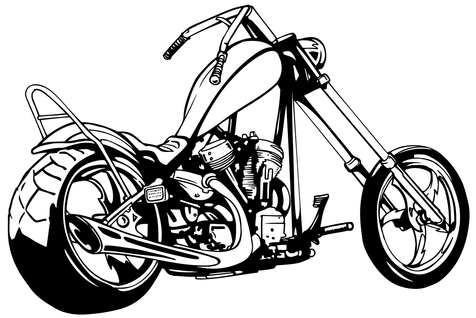 svg royalty free Harley davidson clipart project. Motorcycle free image .