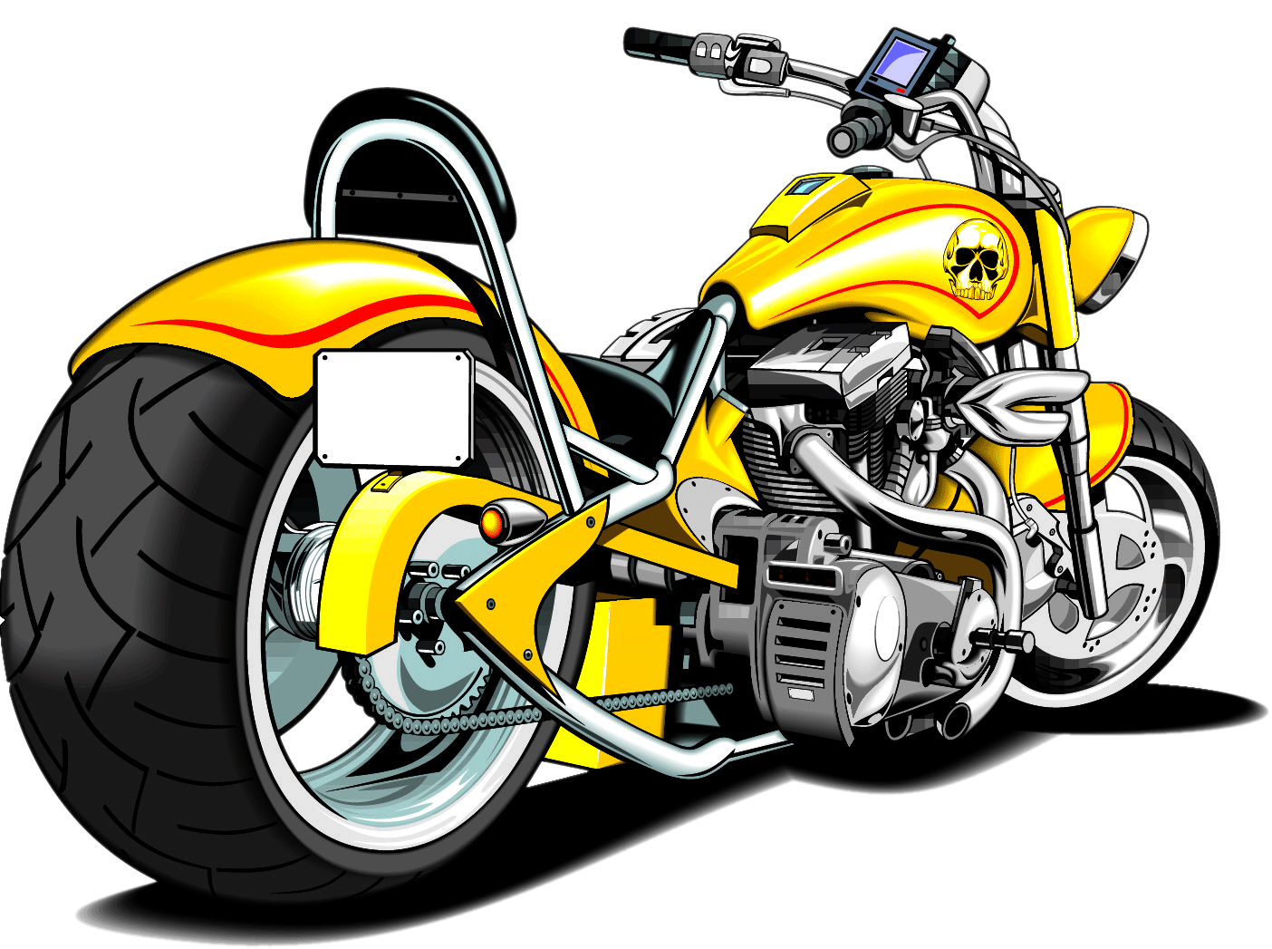 image royalty free download Harley davidson clipart project. Motorcycle silhouette at getdrawings.