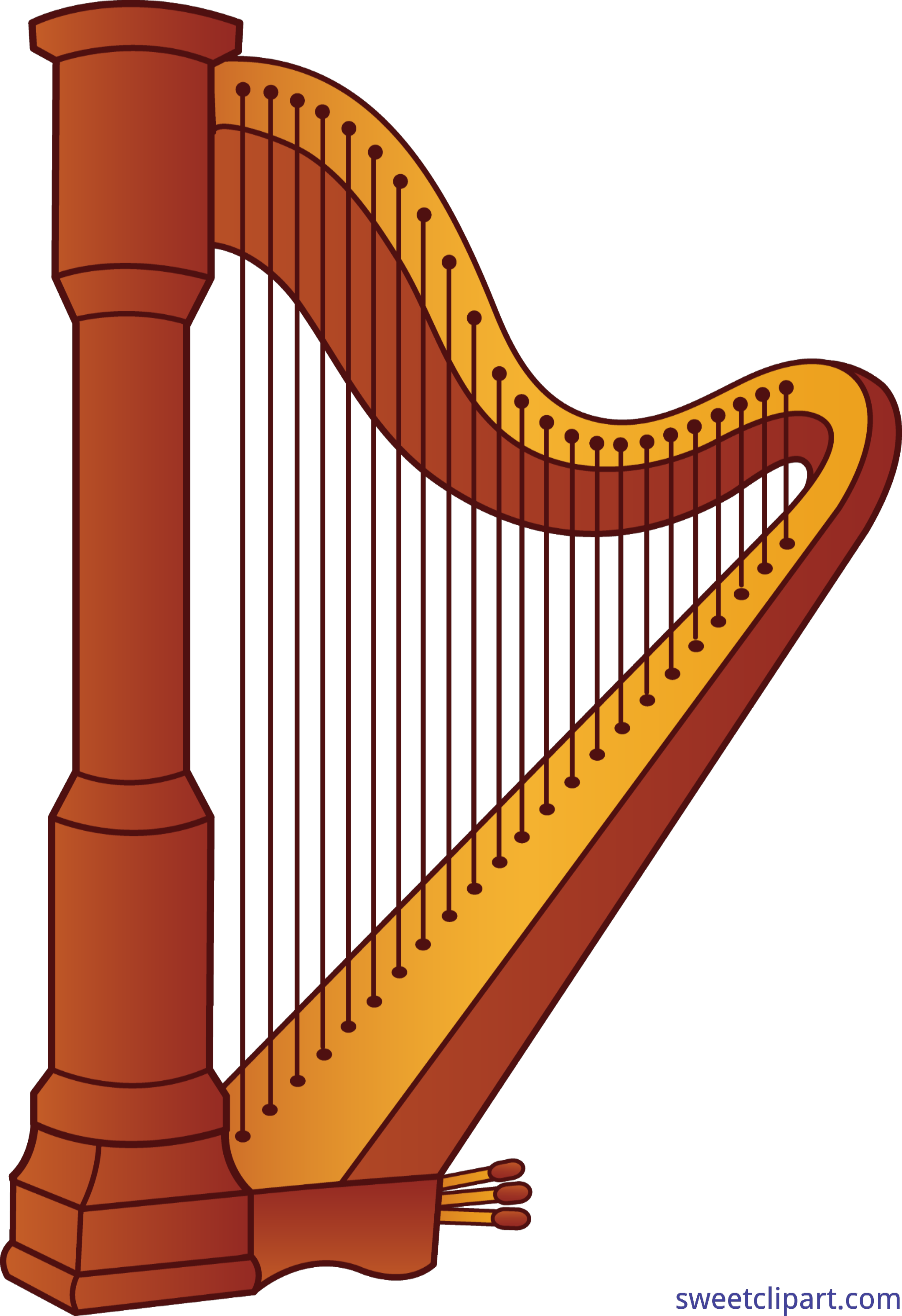 clipart library library Clip art sweet. Harp clipart.