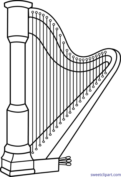 clip freeuse download Harp clipart black and white. All clip art archives