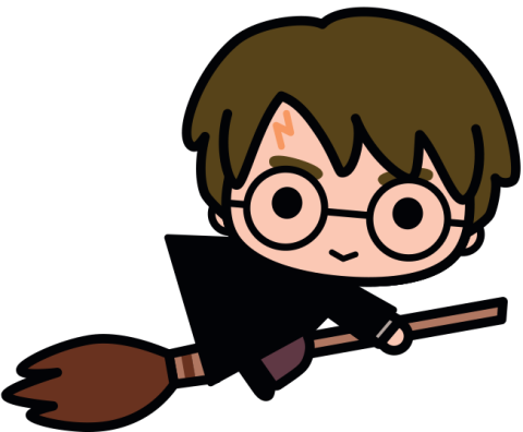 vector royalty free download Harry Potter kawaii hand drawn