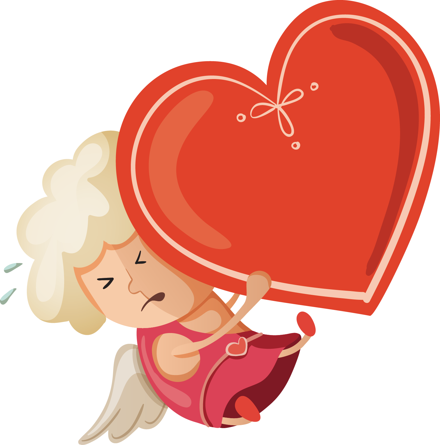 clipart freeuse download Cupid angel love transprent. Hart drawing cartoon