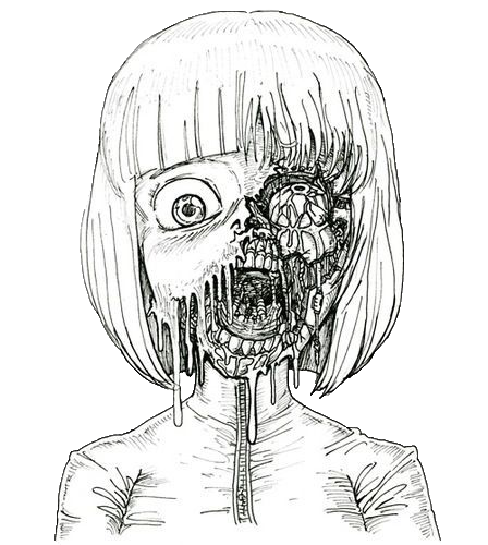 picture black and white library grunge drawing creepy #113358149