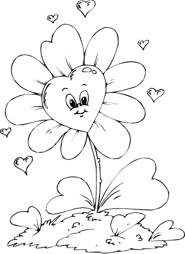 clip art royalty free Heart Flower Drawing at GetDrawings