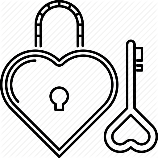 banner transparent Valentine drawing lock and key. Heart at getdrawings com