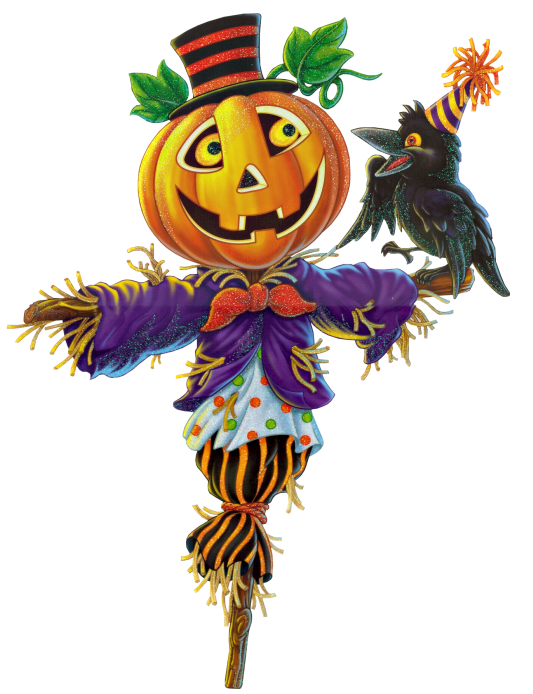 png free Pumpkin Scarecrow PNG Clipart