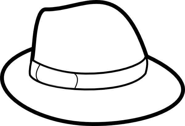 picture royalty free stock Hat clipart black and white. Clip art panda free