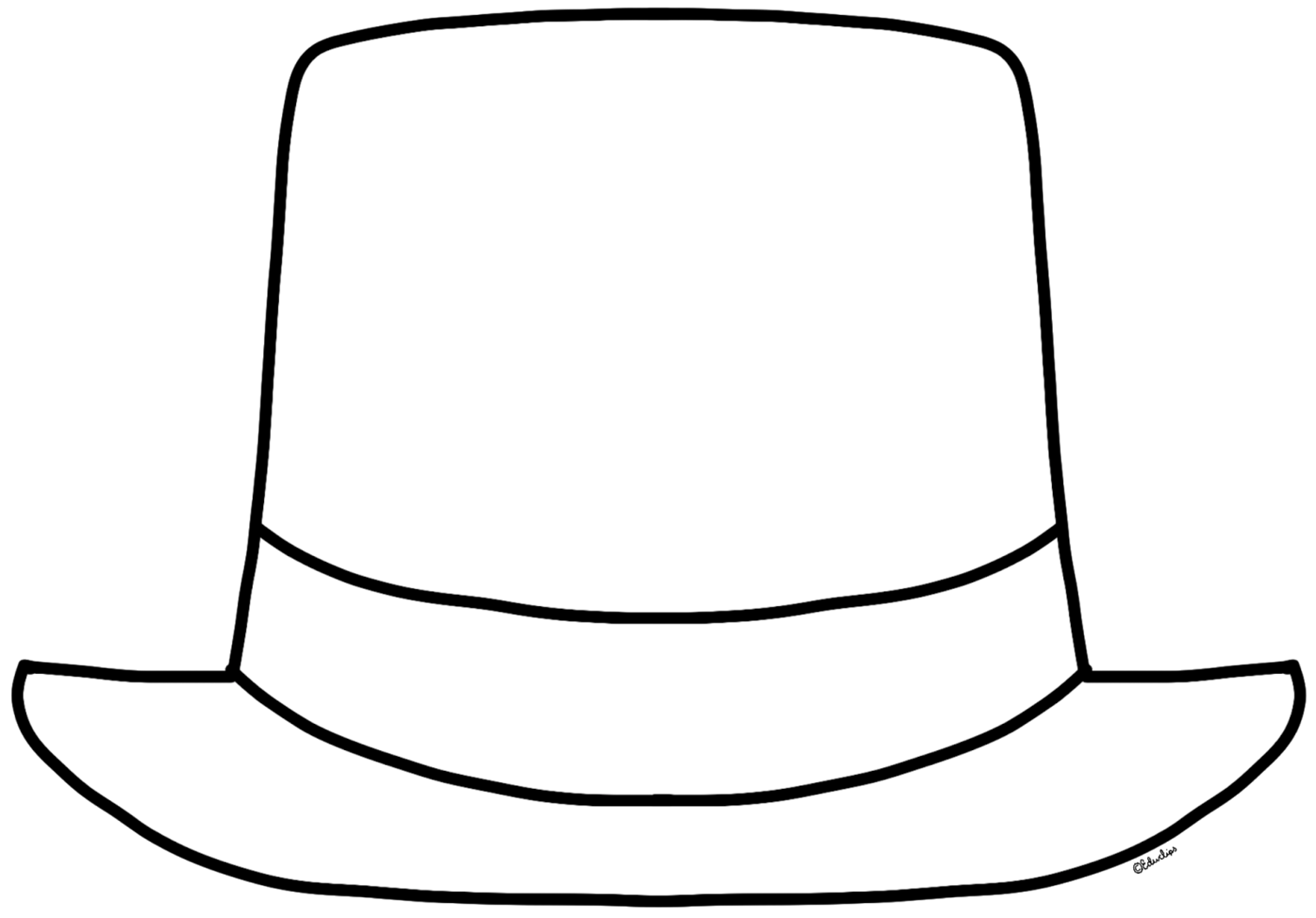 clip free stock Hat clipart black and white.  collection of top