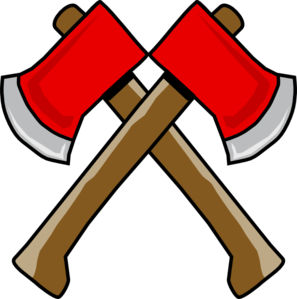 image freeuse download Double clip art at. Hatchet drawing