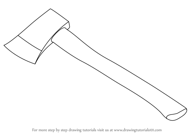 svg royalty free download Hatchet drawing. Learn how to draw