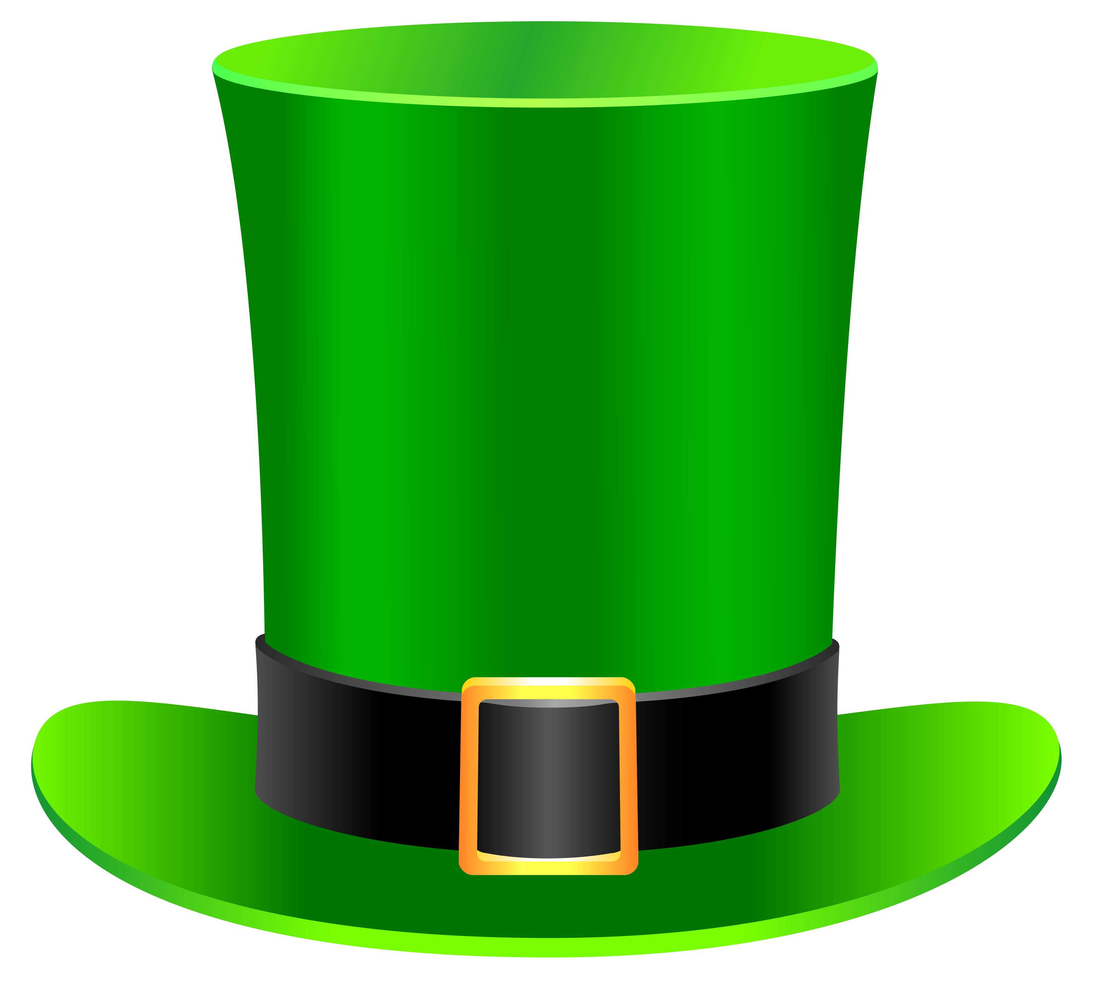 free stock St patrick day png. Leprechaun hat clipart black and white