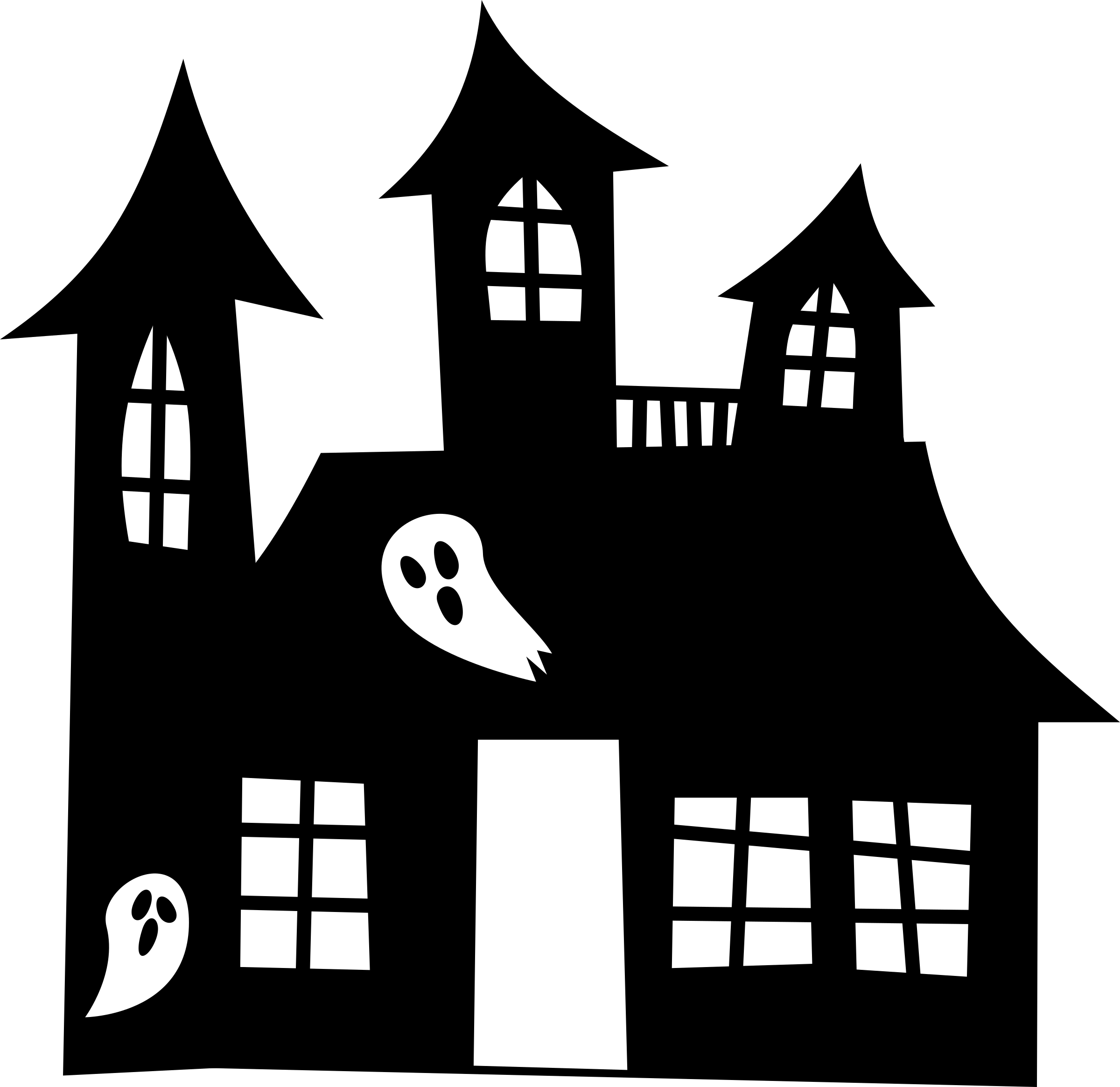 clipart transparent stock Of a house typegoodies. Haunted clipart