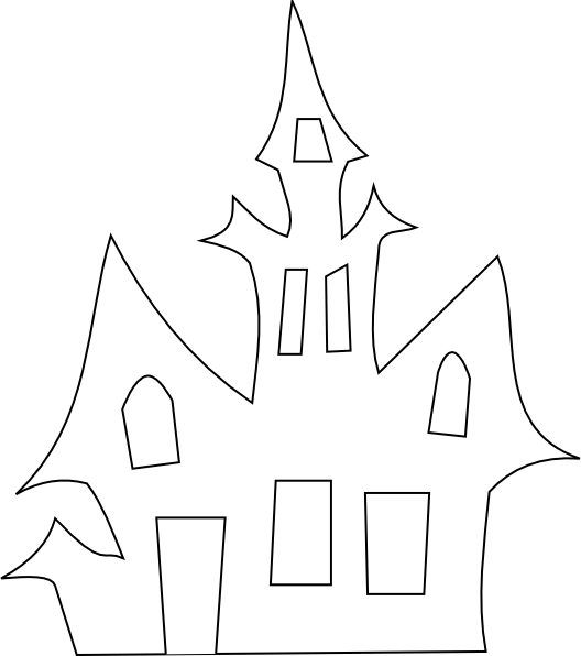 png freeuse stock Vector door creepy. Scary house silhouette clip