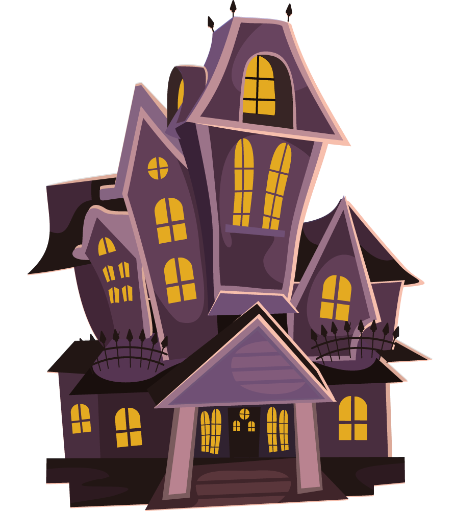 vector black and white stock Clipart Of A Haunted House
