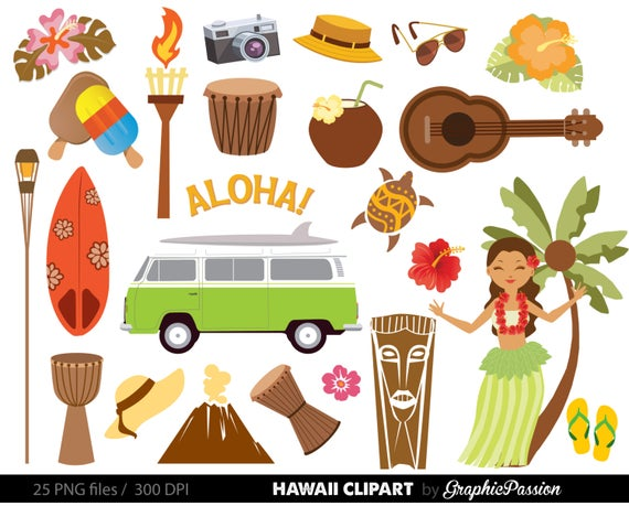 vector black and white library Hawaiian luau party clip. Hawaii clipart