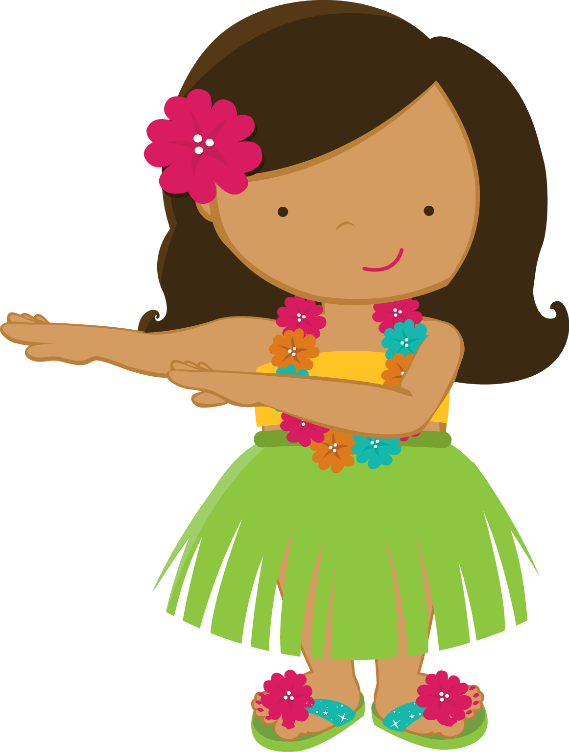 svg freeuse library luau girl clipart #64105148