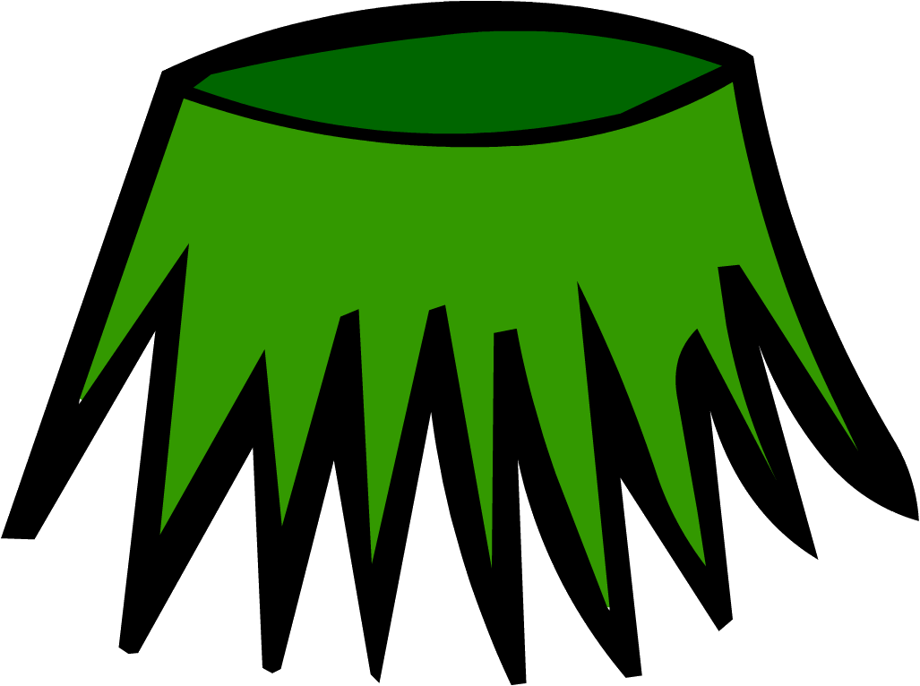 stock grass skirt clipart #64296423