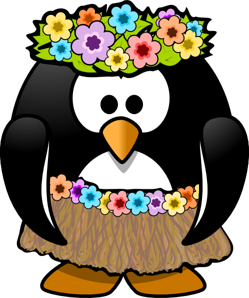 clipart free Hawaiian penguin clip art. Hawaii clipart black and white