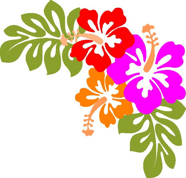 banner Party kid digital art. Luau clipart hawaiian child.