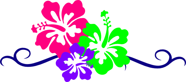 graphic royalty free stock Hawaiian Flower Border Clipart