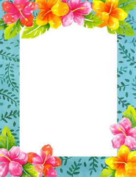 png library download Hawaiian clip art tropical. Luau clipart and borders.
