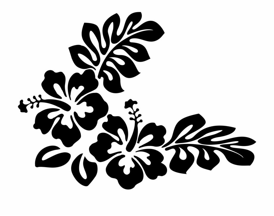 freeuse Flower hawaiian flowers clip. Hawaii clipart black and white