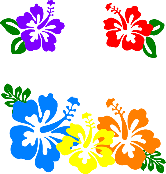 png black and white download Hawaiian Flower Clip Art Borders