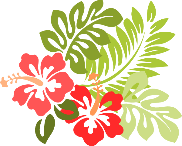 jpg black and white library Hawaiian clipart borders.  collection of christmas.