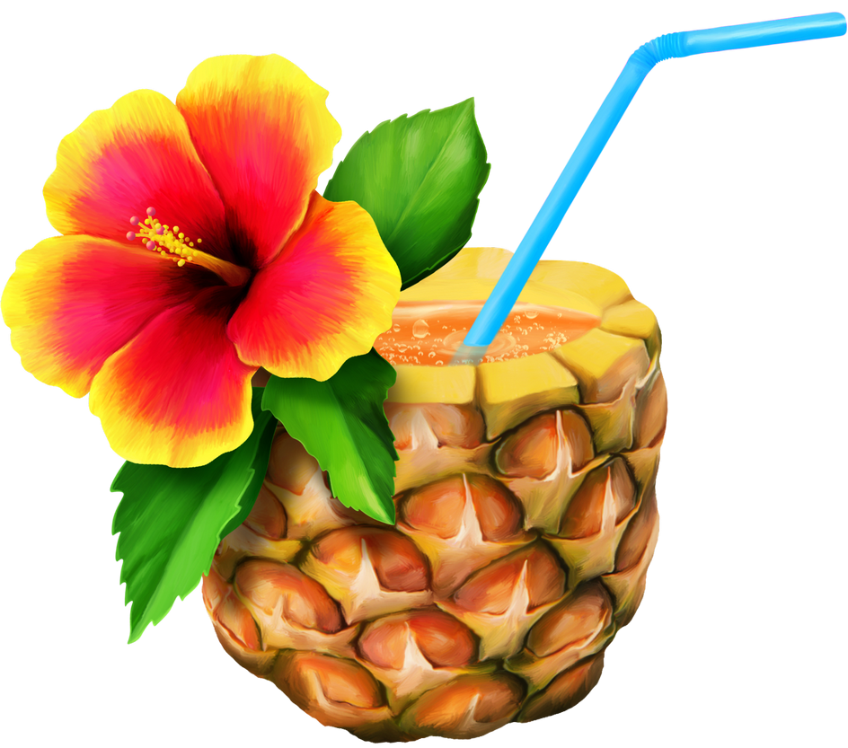 vector royalty free download Tiki clipart pineapple drink.  el png pinterest