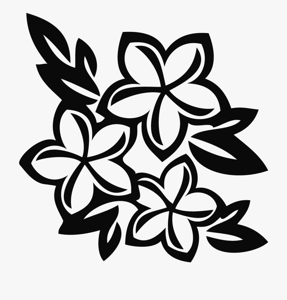 image royalty free download Hawaii clipart black and white. Hawaiian flower flowers