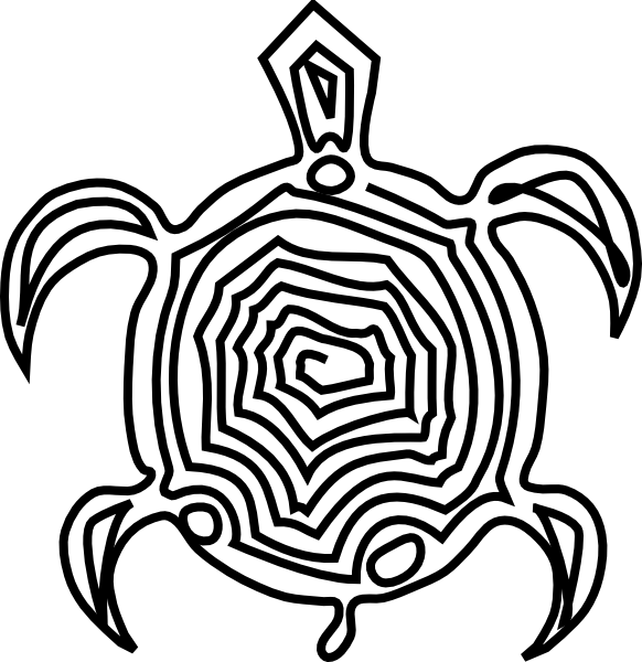 png free Tortoise clipart black and white. Hawaiian sea turtle panda