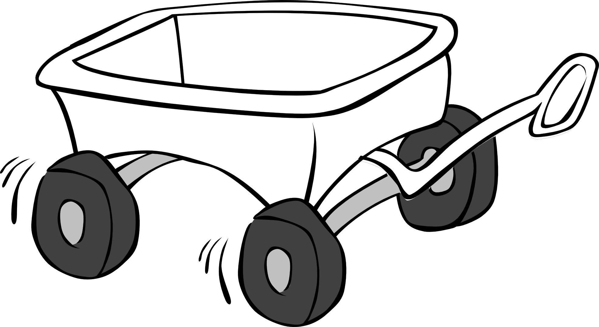 vector free Wagon Clipart Black And White