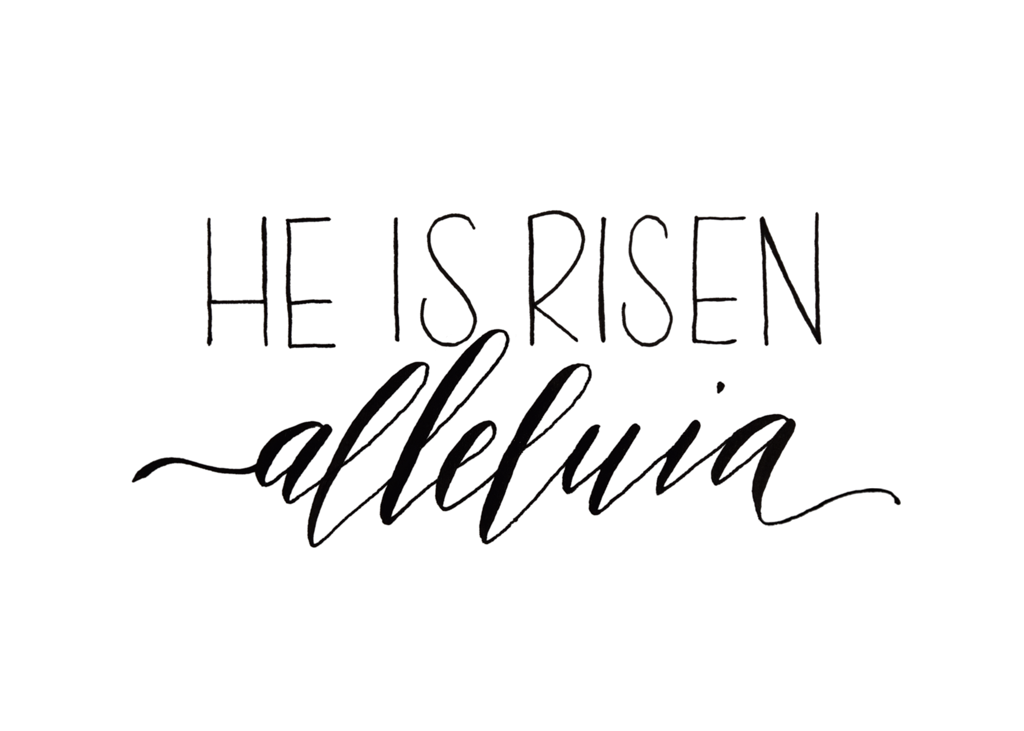 png stock He is risen clipart. Clip art black and