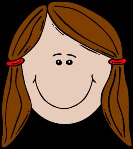 clipart stock Head clipart. Cute girl .