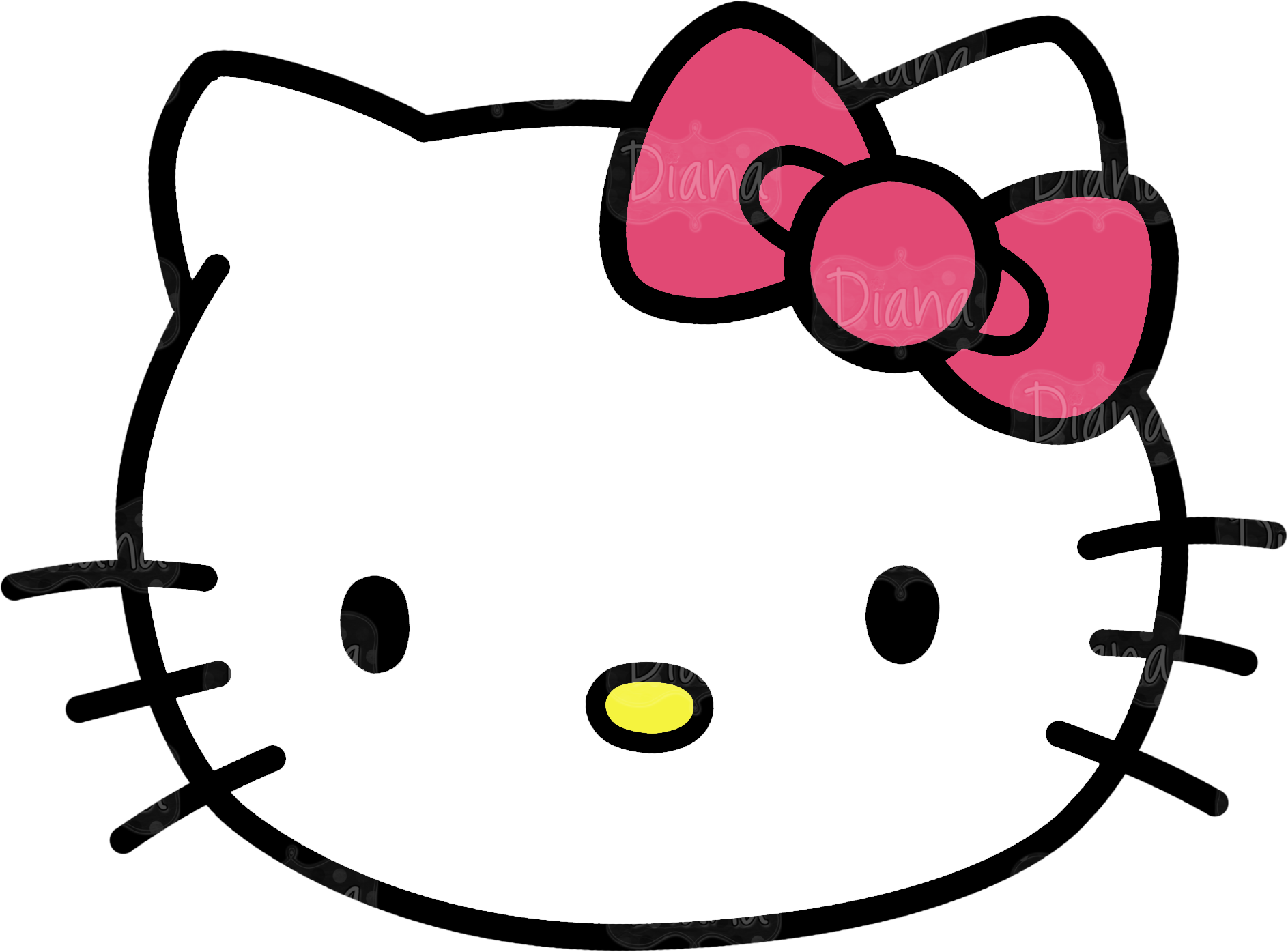 graphic free Head clipart. Hello kitty pictures transparentpng.