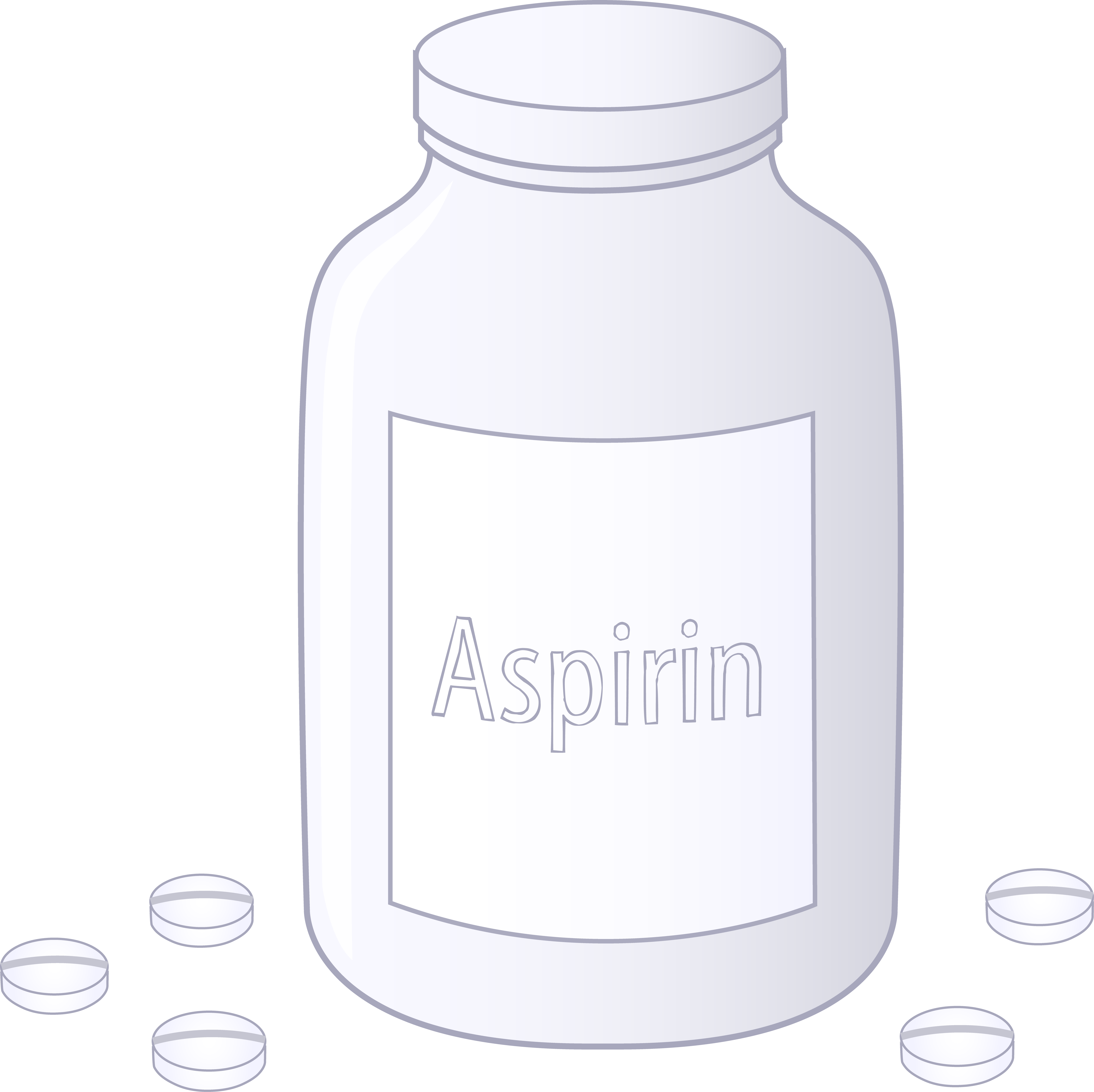 vector library library Bottle of Aspirin Tablets