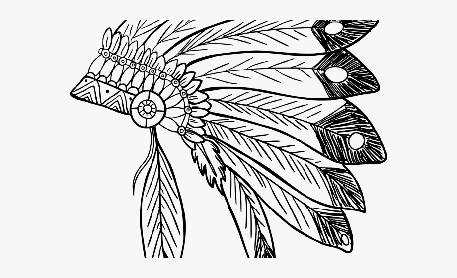 picture royalty free stock Headdress clipart. Indian native american drawing.