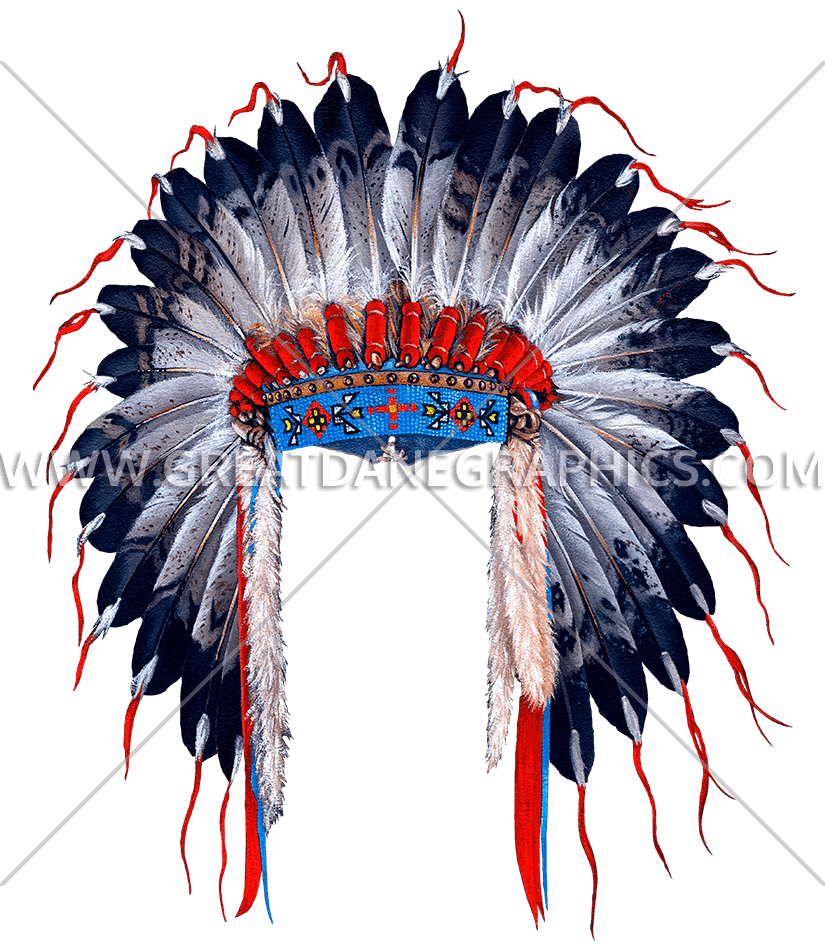 svg freeuse stock Indian Head Dress