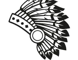svg transparent library Headdress clipart black and white. Indian portal