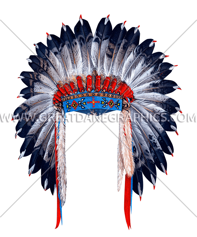graphic free download Headdress clipart black and white. Indian head dress production