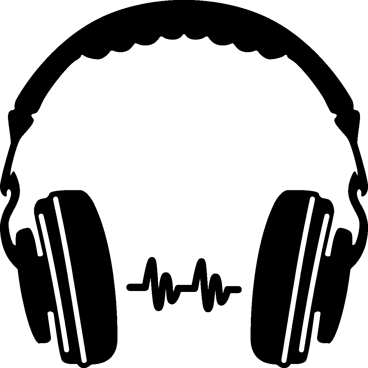 png stock Headphone Silhouette Clip Art PNG