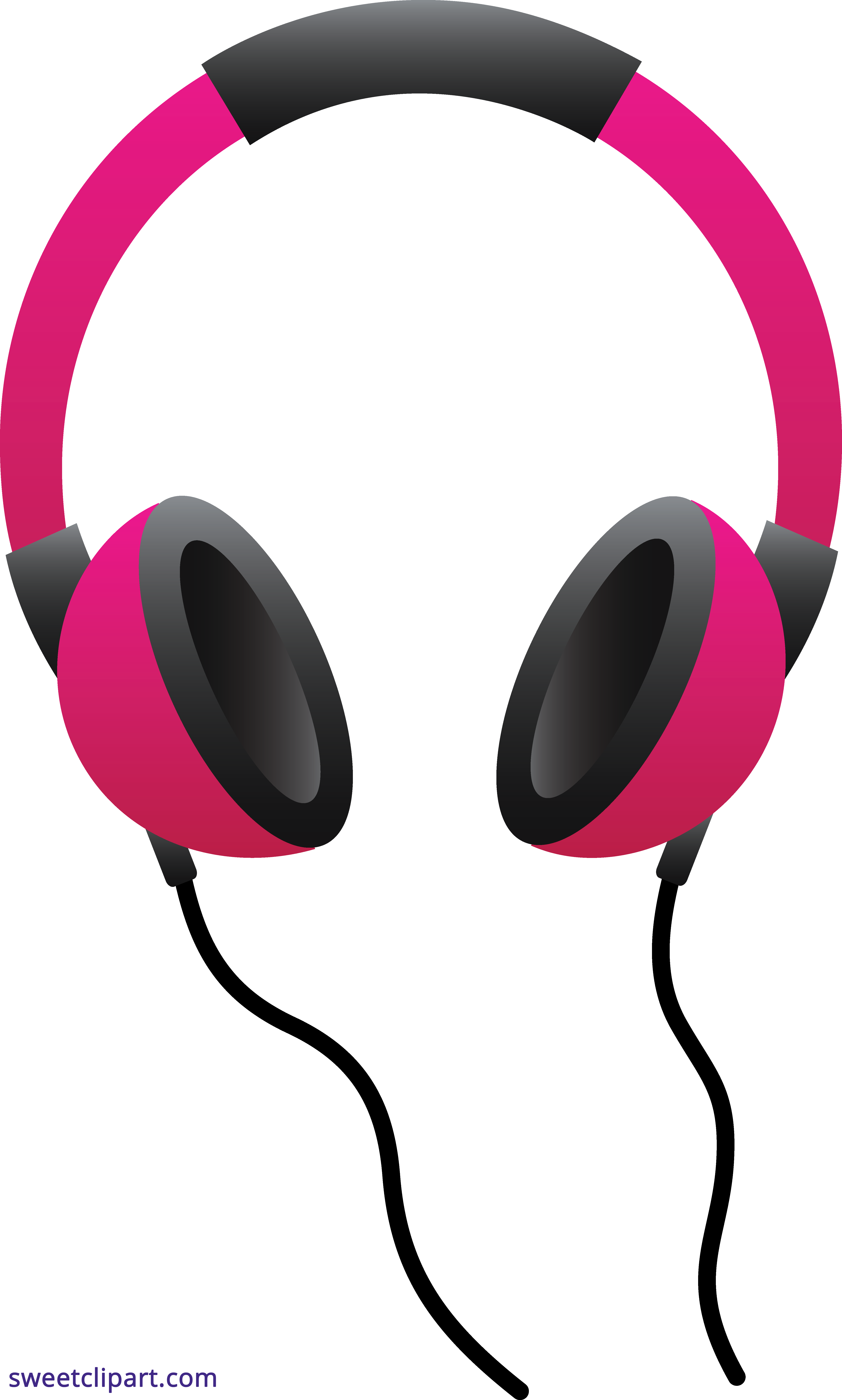 graphic royalty free stock Pink Headphones Clipart