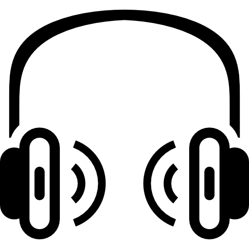 svg freeuse library earphones Icon