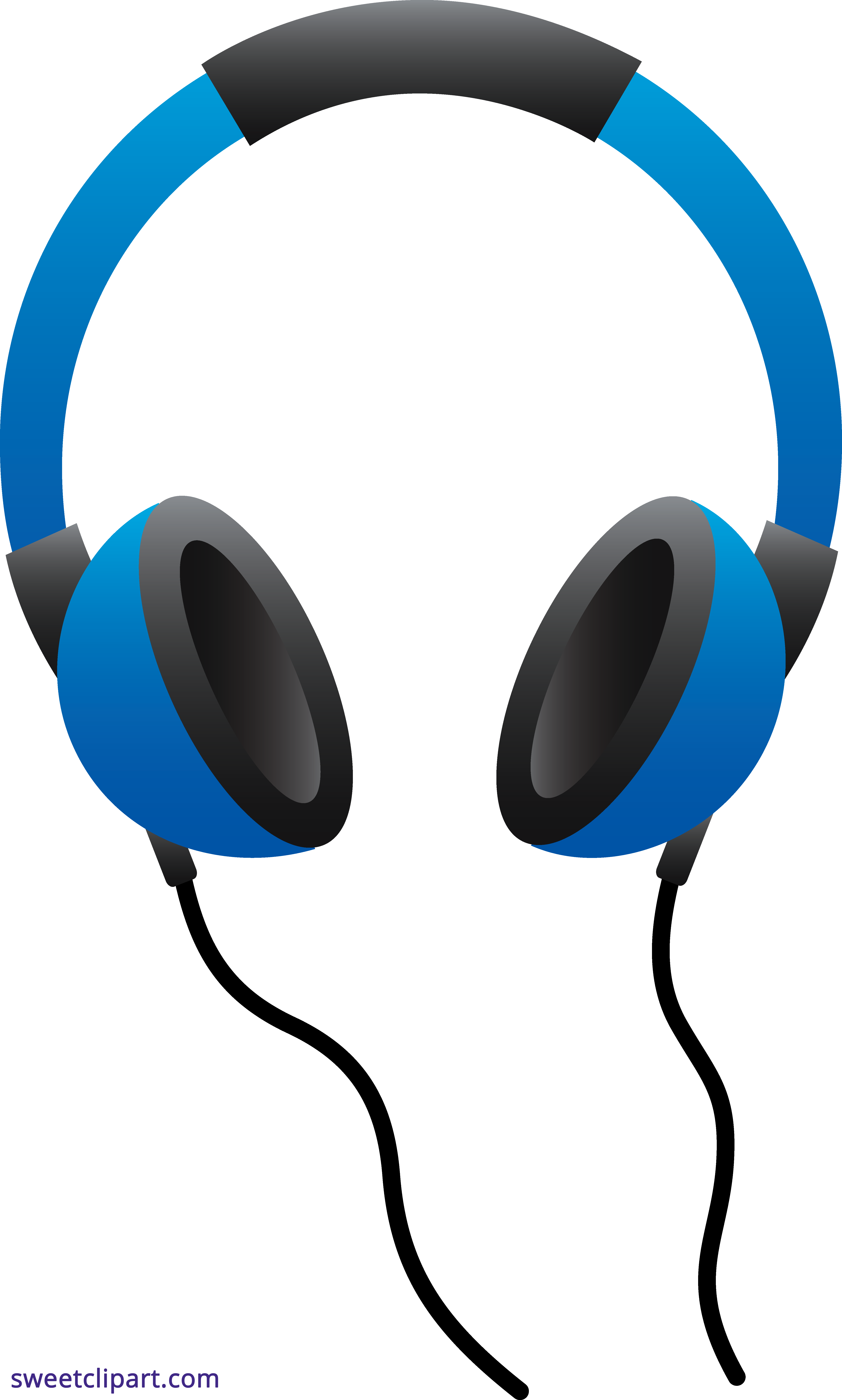 png library stock Headphones clipart. Blue sweet clip art.