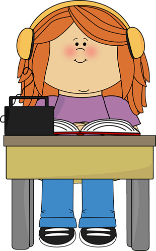 graphic freeuse library Listen clipart cartoon. Headphone student centers free.
