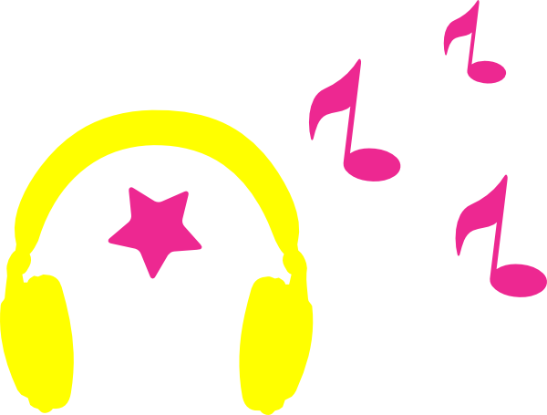 vector library download Headphones With Musical Notes Clip Art at Clker