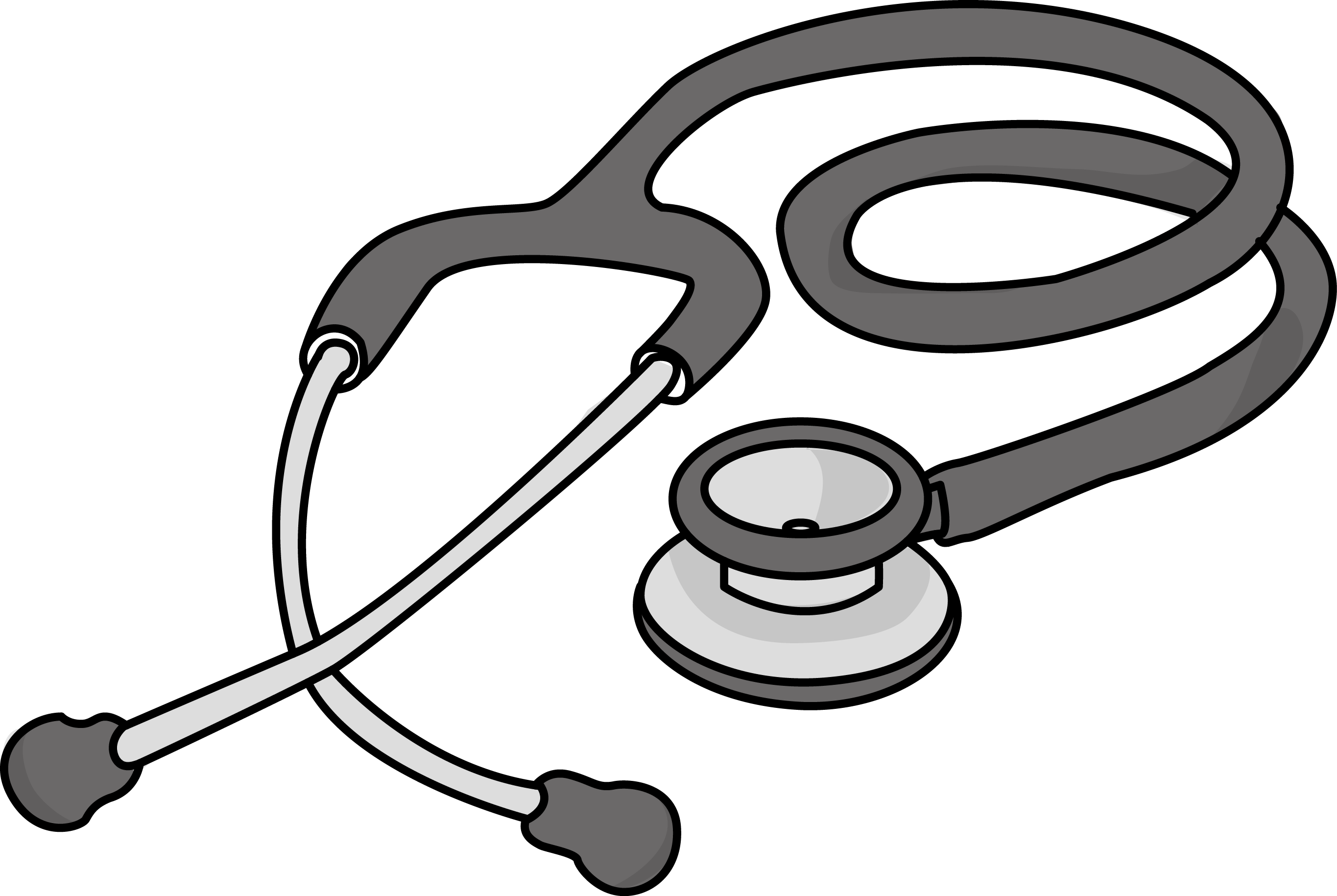 vector library library  collection of stethoscope. Vector doctor black and white